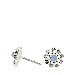 Pilgrim - Silver plated flower stud earrings