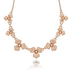 Pilgrim - Rose gold plated petal stone necklace