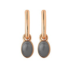 Dyrberg Kern - Rose gold plated 'chia' hoop earrings