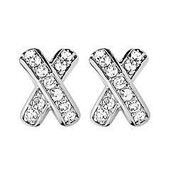 Dyrberg Kern - Silver 'zyna' stud earrings