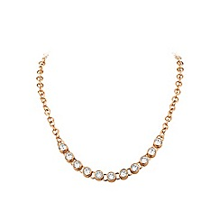 Dyrberg Kern - Rose gold 'tanassy' single-row necklace