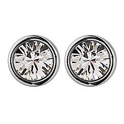 Dyrberg Kern - Silver 'noble' solitaire stud earrings
