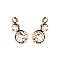 Dyrberg Kern - Rose gold 'lini' stud earrings