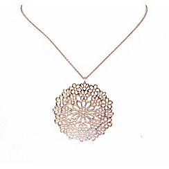 Finesse - Rose gold plated flower pendant