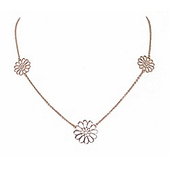 Finesse - Rose gold plated trio flower necklace