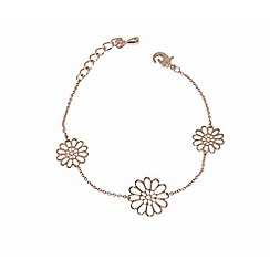 Finesse - Rose gold plated flower clasp bracelet