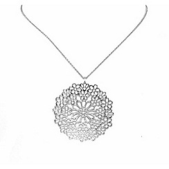 Finesse - Silver flower pendant