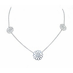 Finesse - Silver trio flower necklace