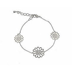 Finesse - Silver flower clasp bracelet