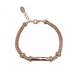 Finesse - Rose gold plated mesh and crystal bracelet