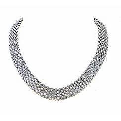 Finesse - Silver chunky mesh collar necklace