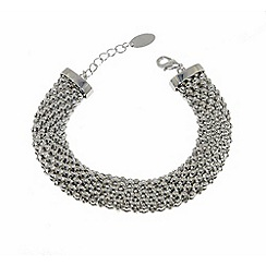 Finesse - Silver chunky mesh clasp bracelet