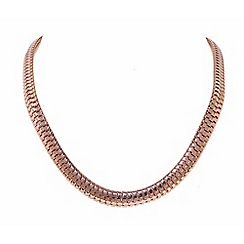Finesse - Rose gold plated mesh necklace