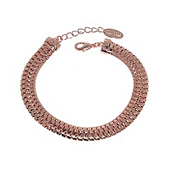 Finesse - Rose gold plated mesh chain clasp bracelet
