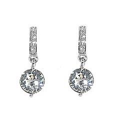 Finesse - Silver swarovski crystal drop earrings