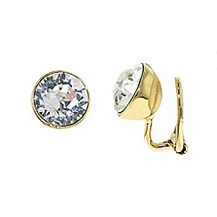 Finesse - Gold plated swarovski crystal leverback earrings