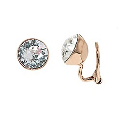 Finesse - Rose gold plated swarovski crystal leverback earrings