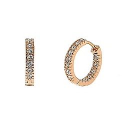 Finesse - Rose gold plated swarovski crystal hoop earrings