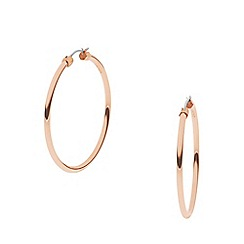 DKNY - Rose gold plated 'stanhope' hoop earrings