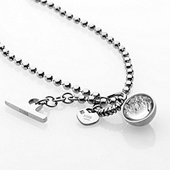 STORM - Ladies silver crystal set necklace