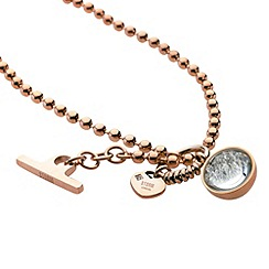 STORM - Ladies rose gold crystal set necklace
