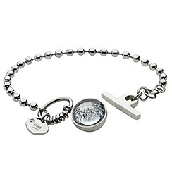 STORM - Ladies silver crystal set bracelet
