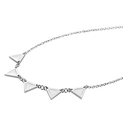 STORM - Ladies silver enamel triangular necklace