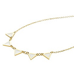 STORM - Ladies gold enamel triangular necklace