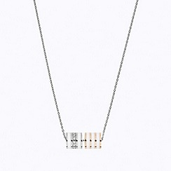 STORM - Ladies silver enamel crystal necklace