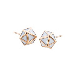 STORM - Ladies rose gold enamel geo earrings