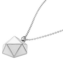 STORM - Ladies silver enamel geo necklace