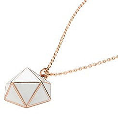 STORM - Ladies rose gold  enamel geo necklace