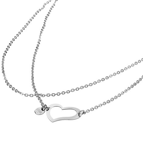 STORM - Ladies silver steel heart necklace