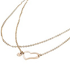 STORM - Ladies rose gold steel heart necklace