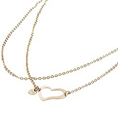STORM - Ladies gold steel heart necklace