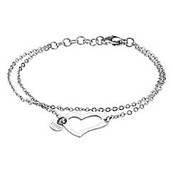 STORM - Ladies silver steel heart bracelet
