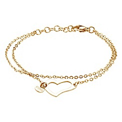 STORM - Ladies gold steel heart bracelet