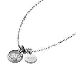 STORM - Ladies silver crystal necklace