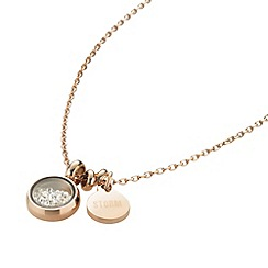 STORM - Ladies rose gold crystal necklace