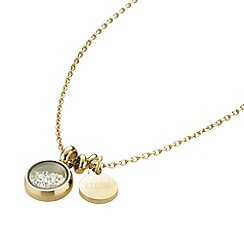 STORM - Ladies gold crystal necklace