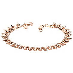 STORM - Ladies rose gold steel bracelet