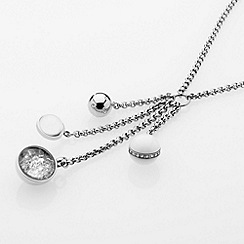 STORM - Ladies silver crystal glass bead steel necklace