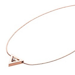 STORM - Ladies rose gold steel necklace