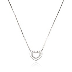 Hot Diamonds - Sterling silver diamond heart pendant necklace