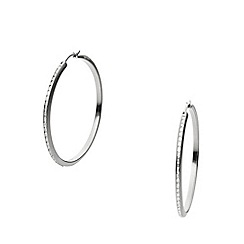 DKNY - City sparkle hoop earrings