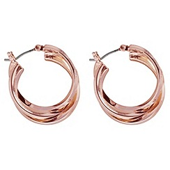 Anne Klein - Rose gold hoop earring