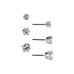 Anne Klein - Trio silver stud earring