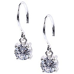 Anne Klein - Silver crystal drop earring