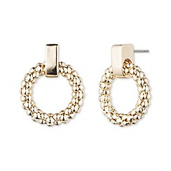 Anne Klein - Gold hooped earring stud