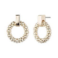 Anne Klein - Gold hooped earring stud